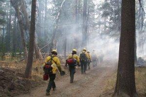 Lassen Hand Crew on the Hole Burn at Lassen Volcanic National Park