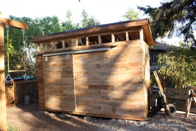 Building a Shed with (mostly) Reclaimed Wood