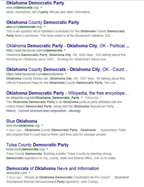Democratic part in OkC Search results