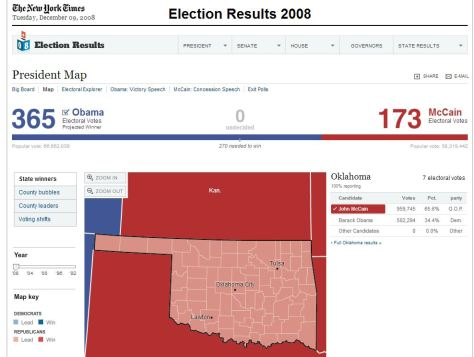 Results of the 2008 election in Oklahoma - NYTimes