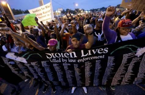 Ferguson, Missouri protest, Aug 16th, Credit: CBS News