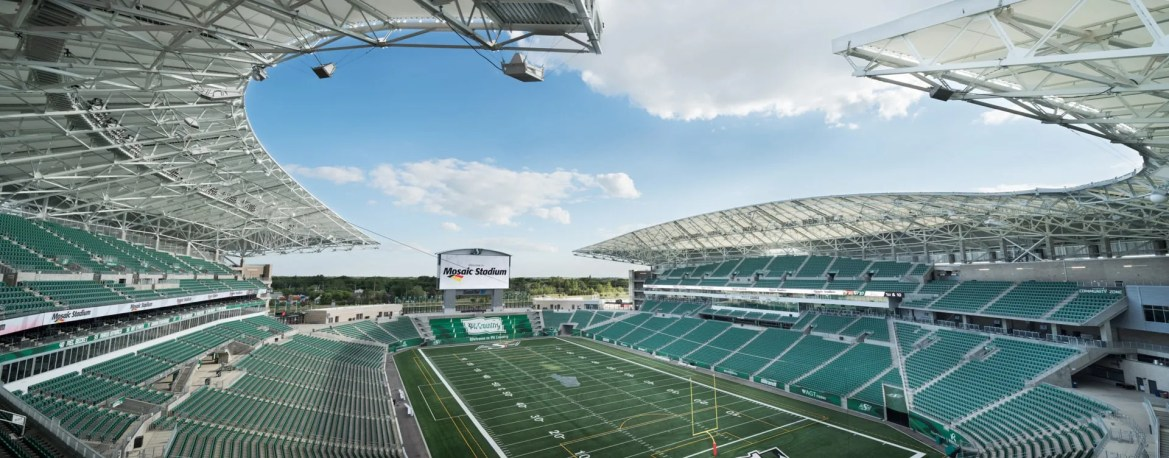 B+H Architects, HKS, PCL Construction, brett gilmour, canada, football stadium, mosaic stadium, multi-use event stadium, regina, saskatchewan, saskatchewan roughriders, sports facility
