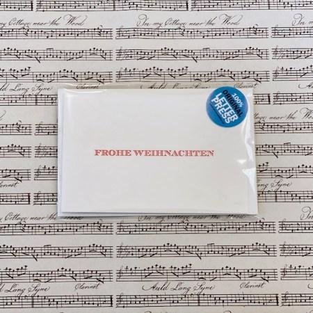 Bayreuth Buchhandlung Breuer und Sohn Karte Frohe Weihnachten Rot