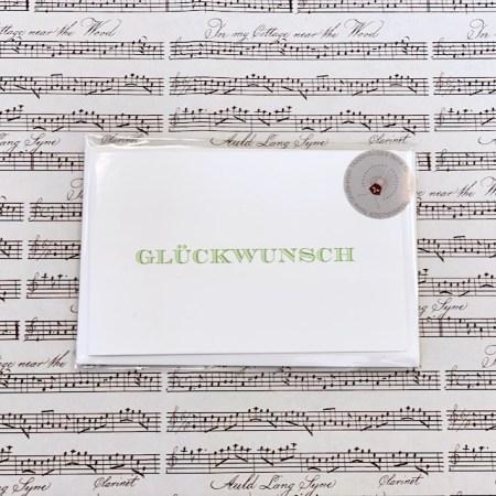 Bayreuth Buchhandlung Breuer und Sohn Karte Glückwunsch Grün