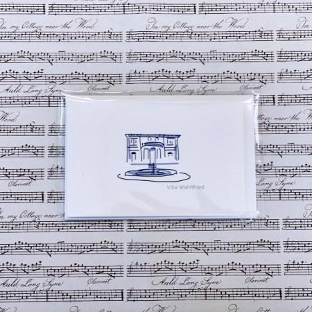 Bayreuth Buchhandlung Breuer und Sohn Karte Villa Wahnfried Weiss