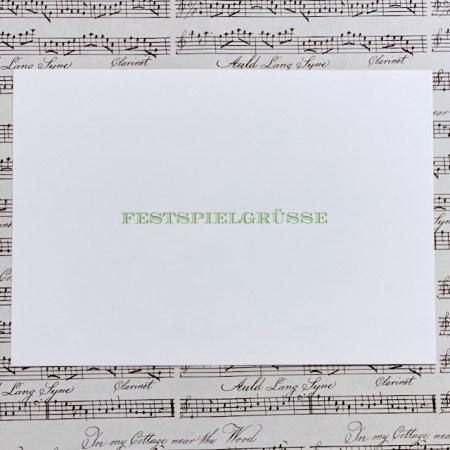 Bayreuth Buchhandlung Breuer und Sohn Postkarte Festspielgrüße