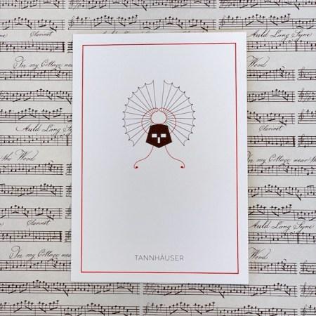 Bayreuth Buchhandlung Breuer und Sohn Postkarte Tannhäuser