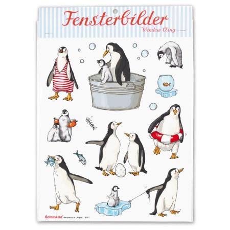 Bayreuth Buchhandlung Krima und Isa Fensterbilder Pinguin