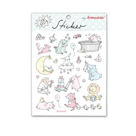 Bayreuth Buchhandlung Krima & Isa Sticker Babytiere