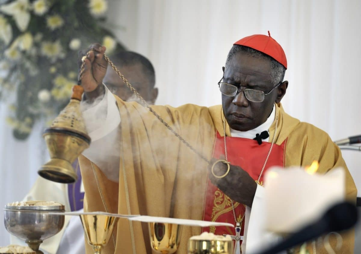 CARDINAL SARAH SWINGS CENSER DURING ANNIVERSARY MASS IN HAITI