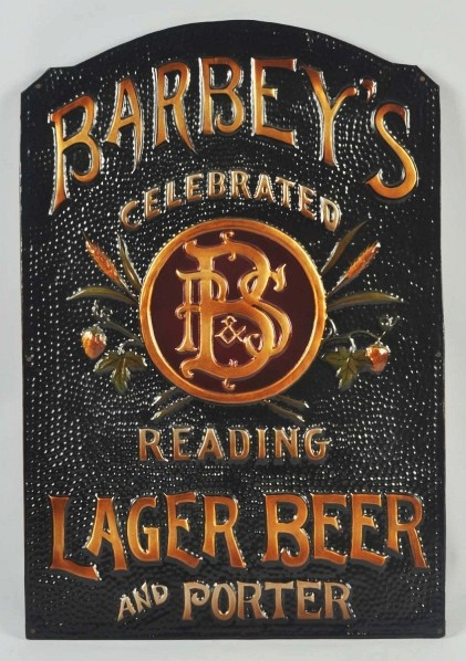 Barney's Lager Beer Tin Sign