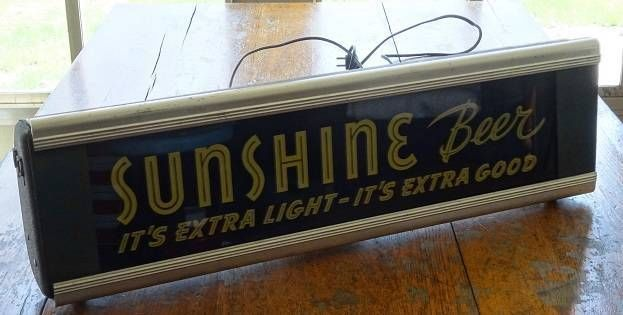 Sunshine Beer Lighted Sign
