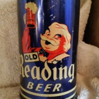 old reading beer cone top can