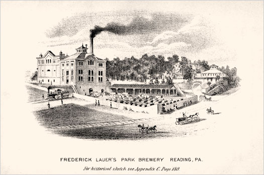 Lauer Brewery Litho Etching
