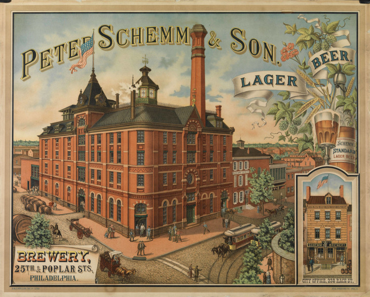 Peter Schemm Brewery Factory Scene Litho