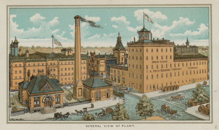 Poth Brewery Litho Illustration