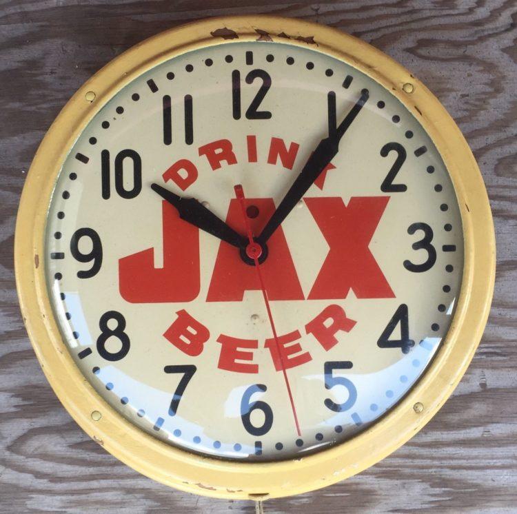 drink jax beer clock warren telechron