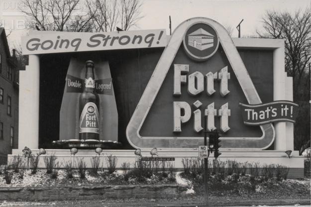 Fort Pitt Beer Billboard Sign