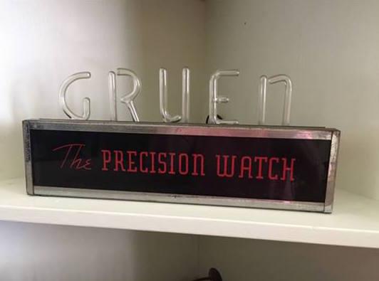 Gruen Precision Watch Biotite Sign
