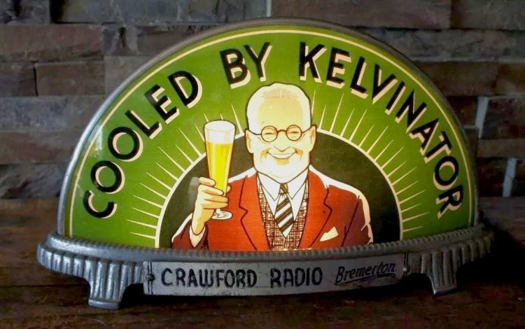"""Cooled By Kelvinator"" Gillco Cab Light"