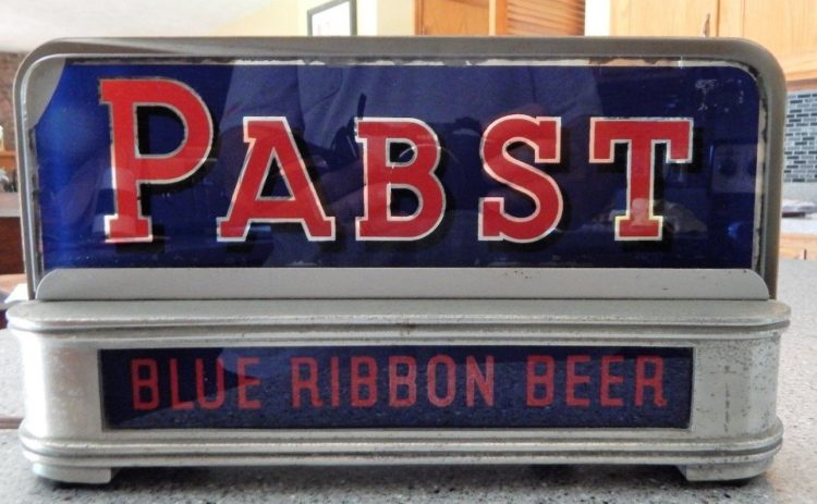 Past Blue Ribbon Beer Sign