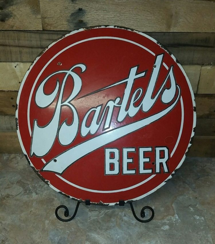 Bartel's Beer Porcelain Lens Sign