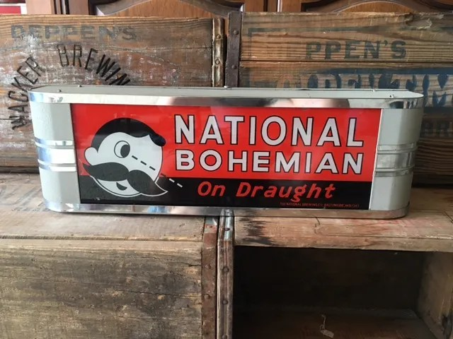 National Bohemian On Draught Lighted Sign