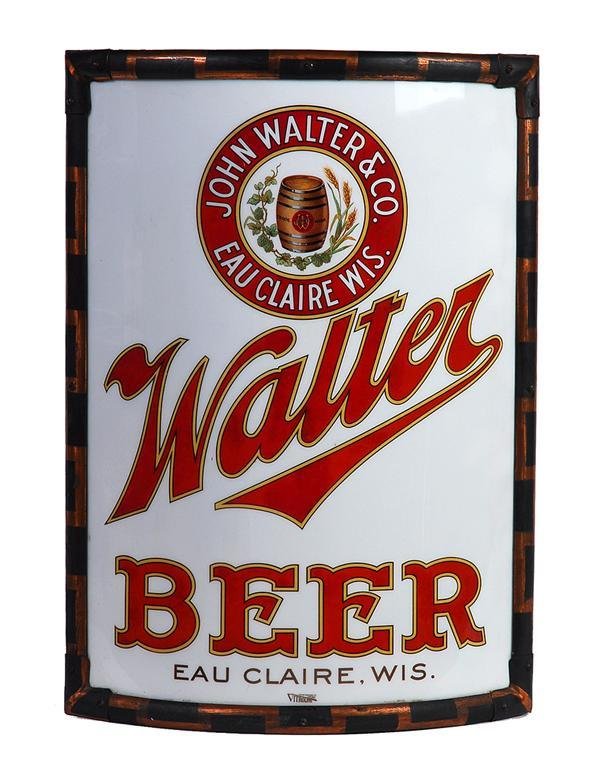 Walter Beer Vitrolite Sign