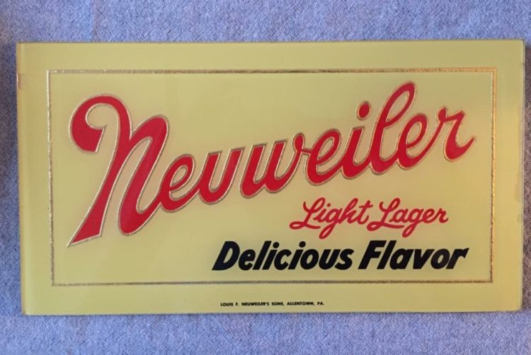 Neuweiler Light Lager Beer Beeco Glass Sign