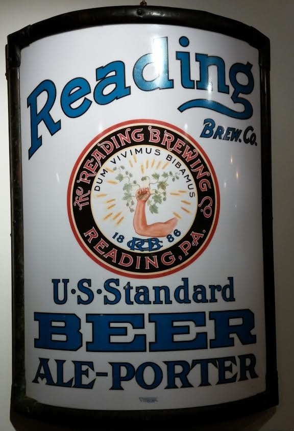Reading Brewing Company Vitrolite Sign