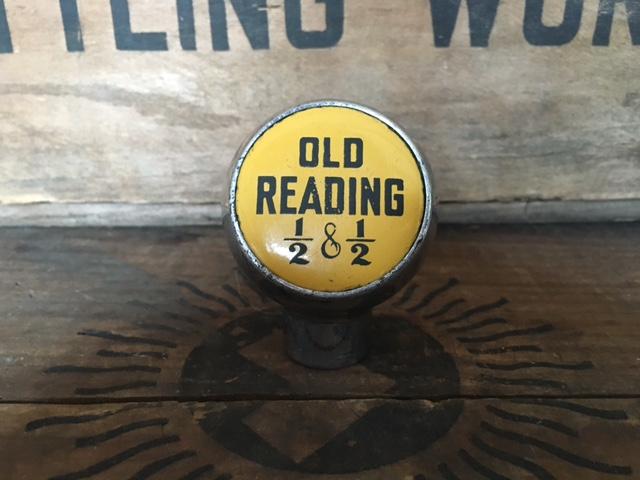 old reading half and half beer ball tap knob robbins
