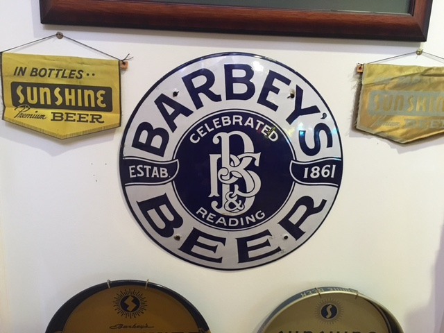 Barbey's Beer Porcelian Lens Sign