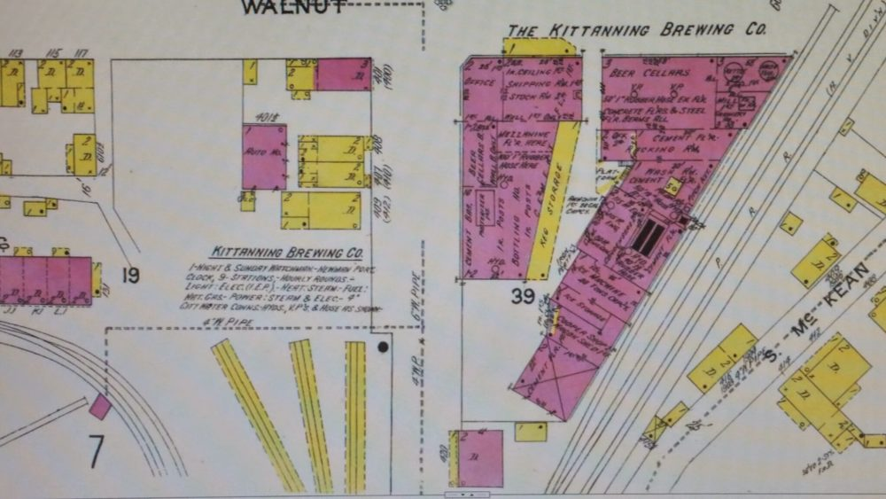 Kittanning Brewery Blueprint Map
