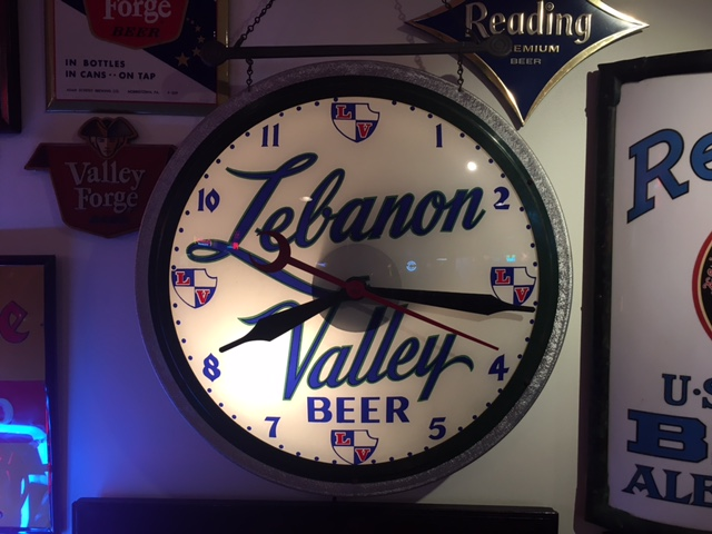 Lebanon Valley Beer Gillco Clock