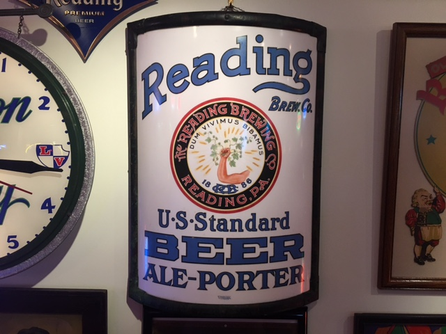 Reading Brewing Co Standard Beer Ale Porter Vitrolite