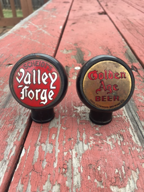Scheidt's Valley Forge & Golden Age Beer Ball Tap Knob