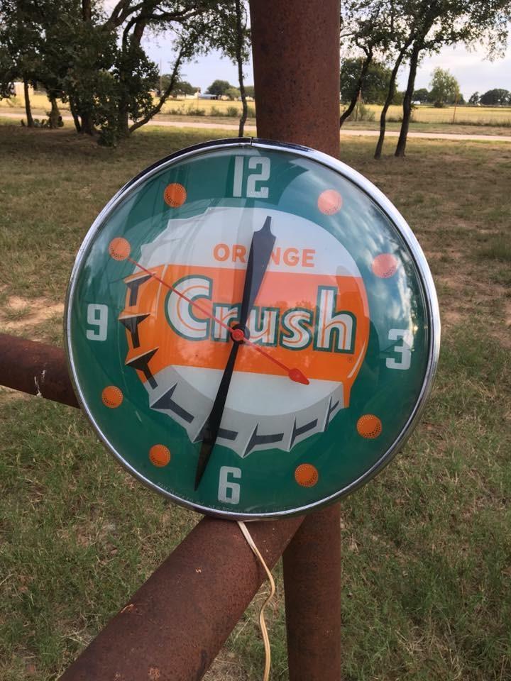 Orange Crush Soda PAM Clock