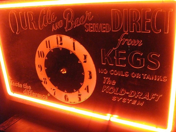 Kold-Draft System Neon Clock Sign