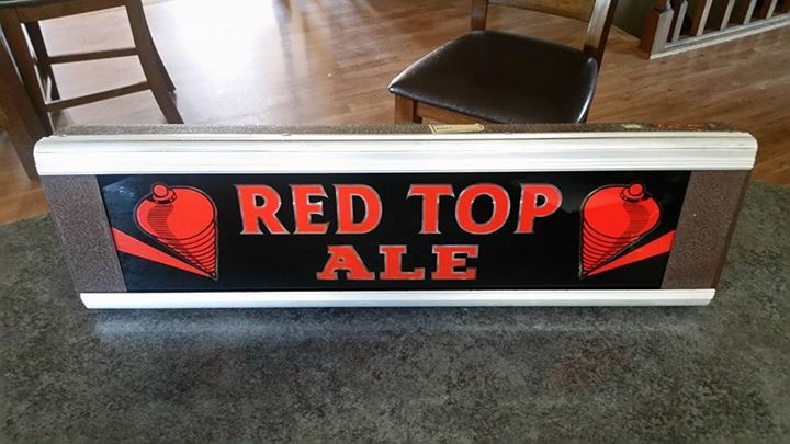 Red Top Ale Sign