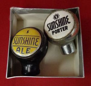 Sunshine Ale & Sunshine Porter Ball Tap Knobs