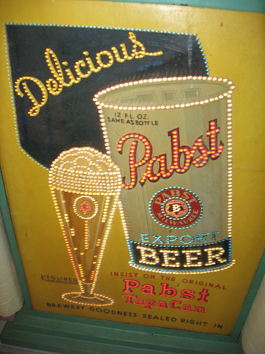 pabst sport beer keglined lighted sign magnalite corp