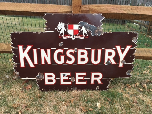 Kingsbury Beer Porcelain Sign