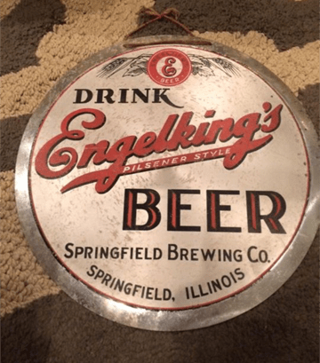 Drink Engelkings Beer Button Sign