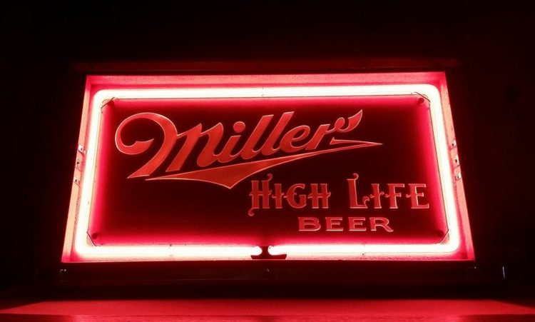 Miller High Life Neon Lackner Sign