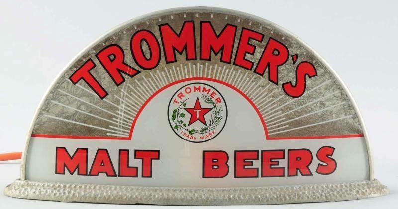 Trimmer's Malt Beer Gillco Cab Light Sign