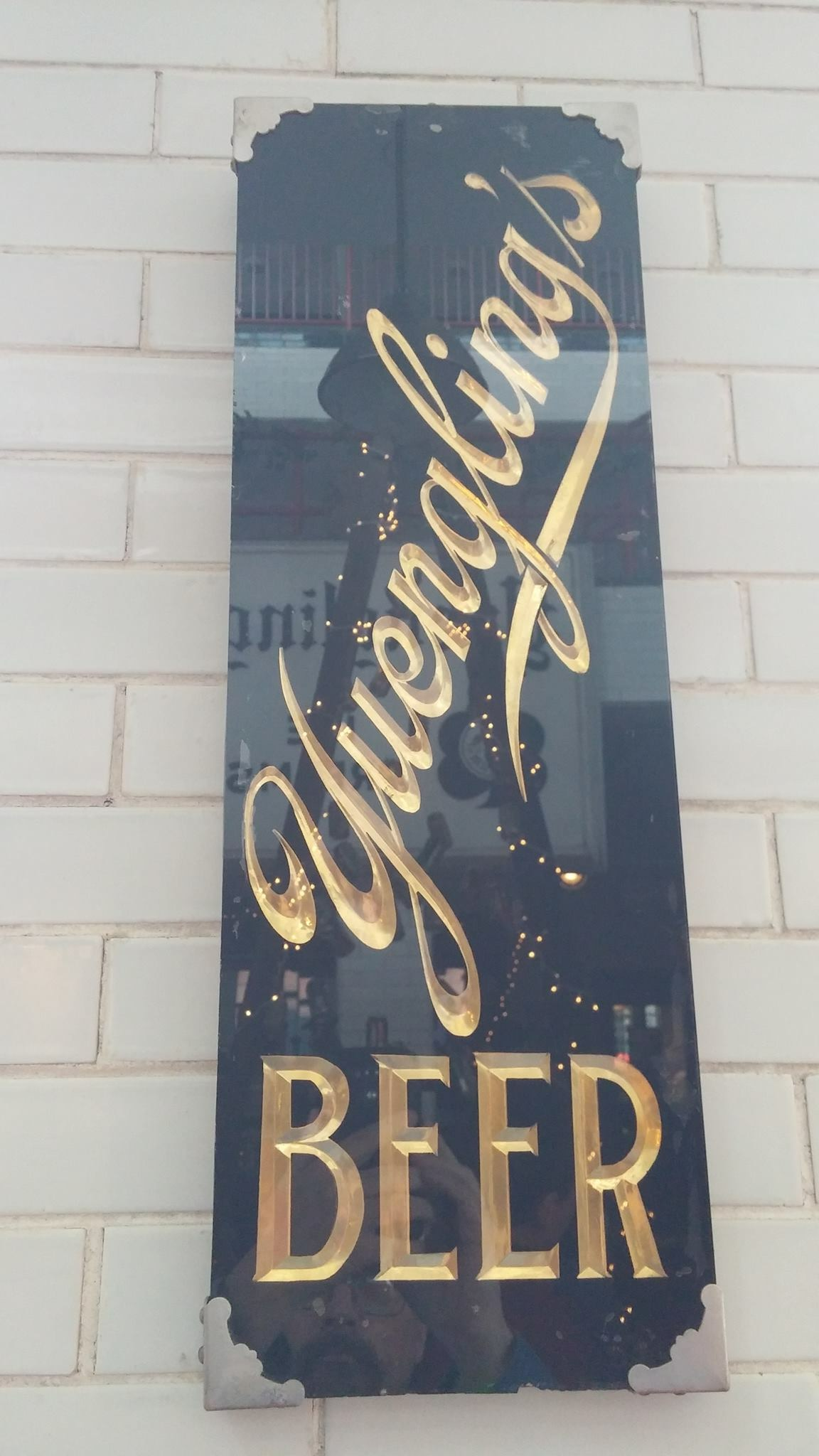 Yuengling's Beer Glass Sign