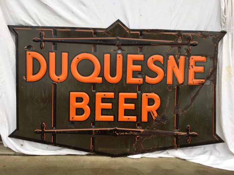Duquesne Beer Porcelain Sign