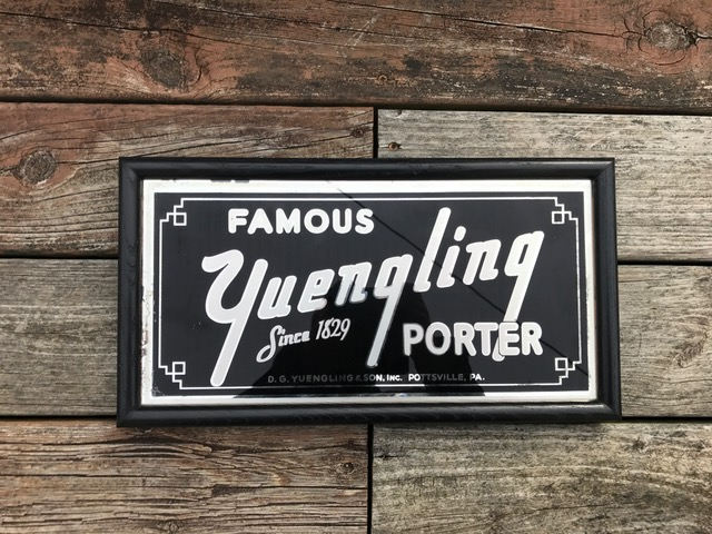 famous yuengling porter glass sign