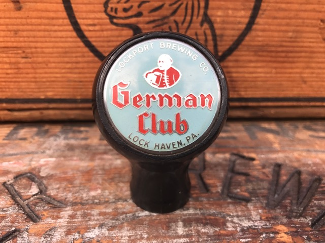german club beer ball tap knob lockport brewing company brewery Fisher Products Inc