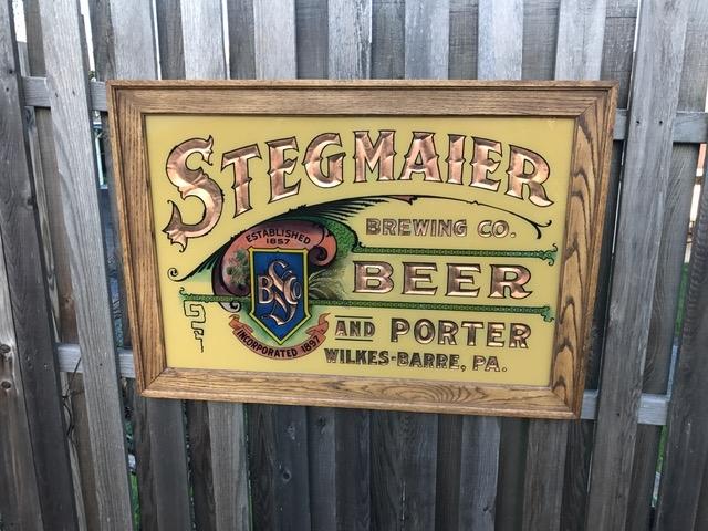 Stegmaier Beer Porter Glass Sign